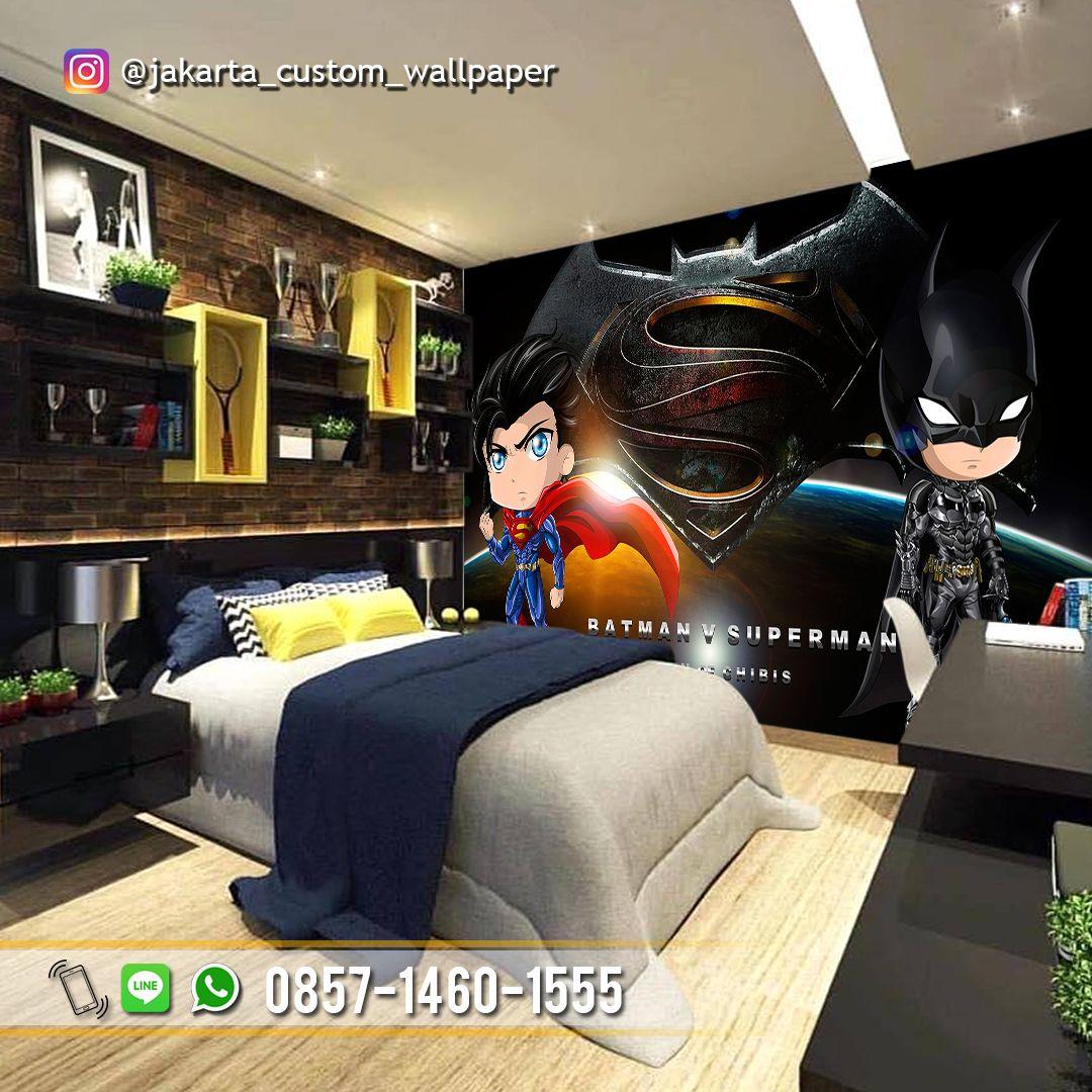 Wallpaper Kamar Anak Wallpaper Dinding Custom 3d Tema Batman