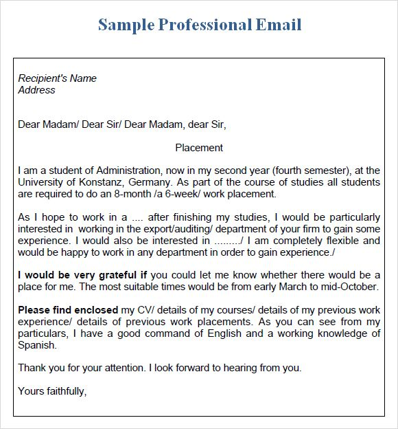 professional email format templates professional email samples