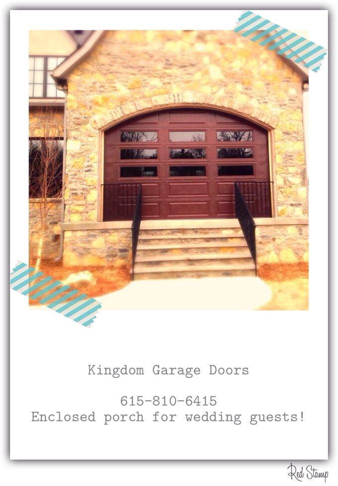Glass View Garage Door By Doorlink Installed To Enclose A Porch For