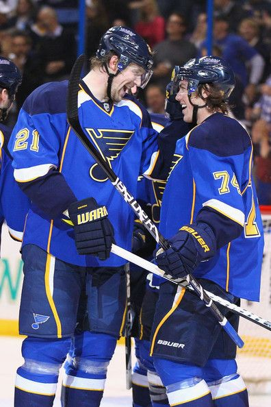My Favorite Bromance St Louis Blues Players Patrik Berglund And TJ Oshie LONG LIVE THE NOTE