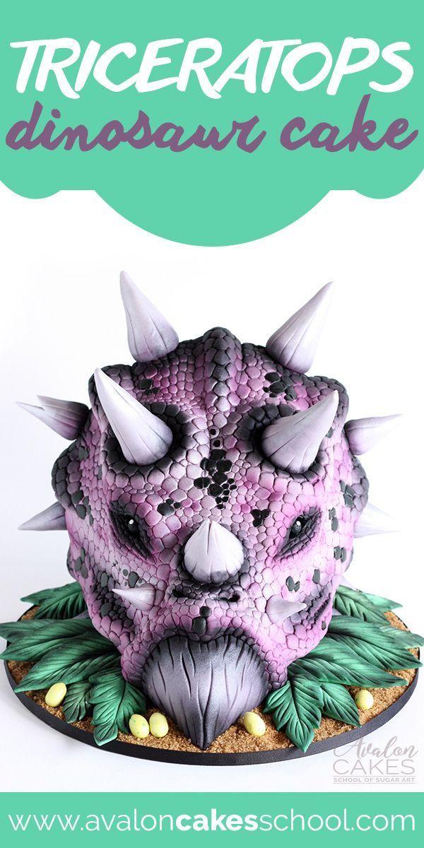 Triceratops Dinosaur Cake Tutorial by Timbo Dinosaur