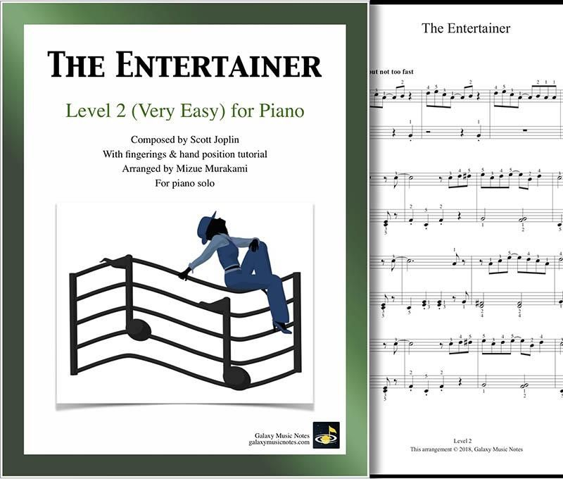 The Entertainer Level 2 Piano Sheet Music With Images Sheet