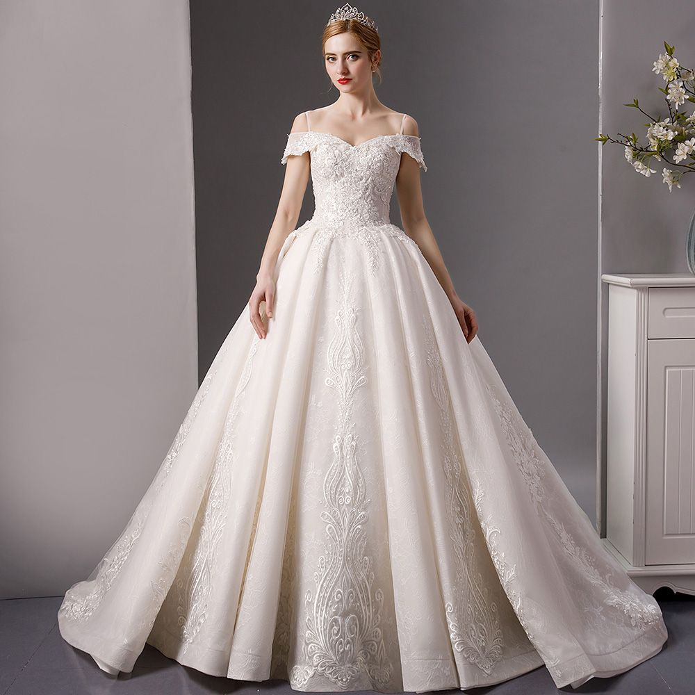 Luxury / Ivory Wedding Dresses 2019 Ball Gown Off