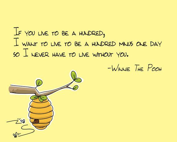 If You Live To Be 100 Winnie The Pooh Quote Products Winnie