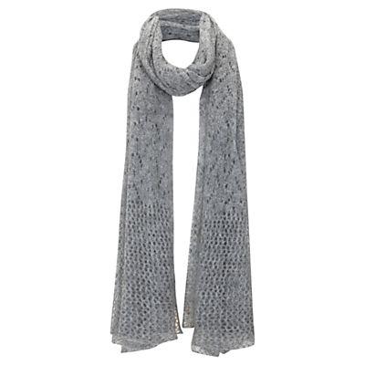 Buy Mint Velvet Pointelle Scarf, Grey Silver online at JohnLewis.com - John Lewis