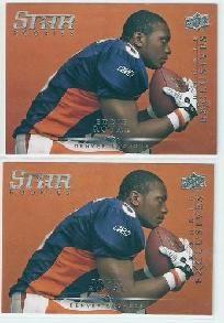 2008 upper deck rookie exclusives eddie royal #re68 rookie football card denver broncos.