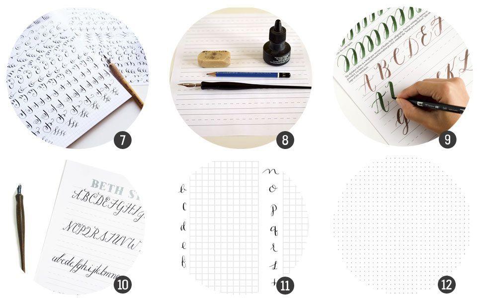 Imprimibles: 12 plantillas para practicar caligrafía o lettering ...