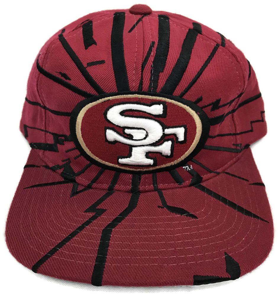 5c51b6ae Vintage San Francisco 49ers Starter Shockwave Snapback Hat Cap NFL ...