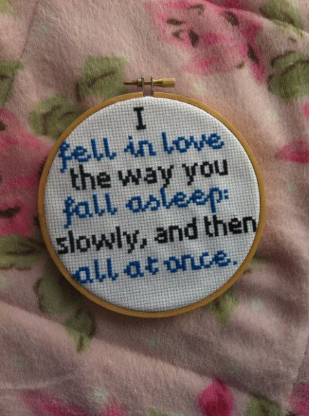 The Fault In Our Stars Quote Cross Stitch By Popppstitch On Etsy