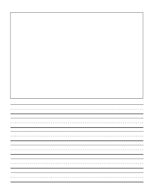 writing paper template kindergarten
