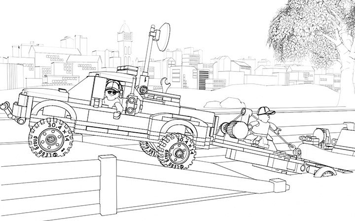 coloring page 60045 police patrol - Lego City Coloring Pages