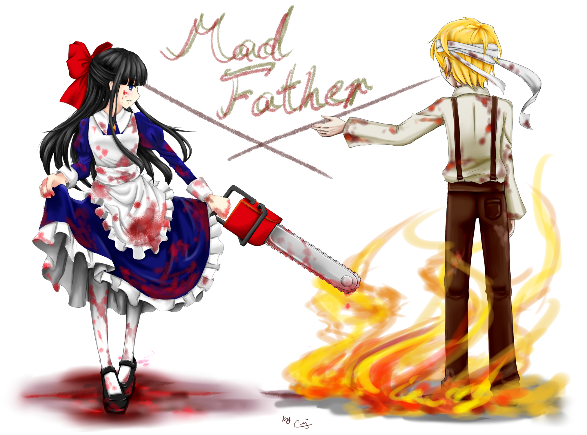Mad Father Fanart Aya and Dio