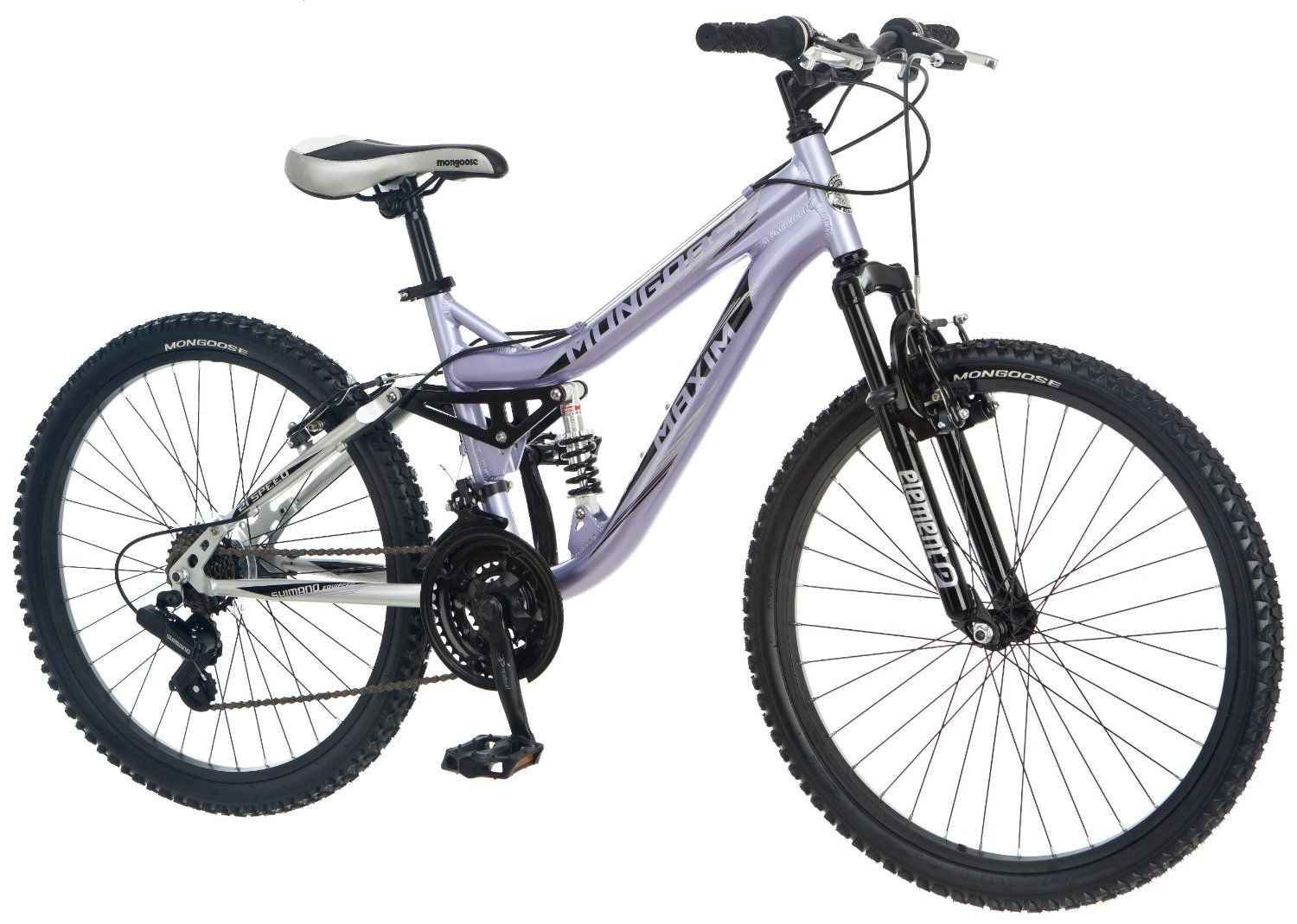 Amazon Com Mongoose Girl S Maxim Full Suspension Bicycle 24