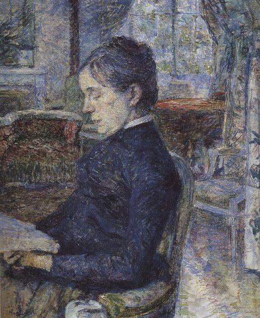 La condesa de Toulouse Lautrec en el salón, 1887.