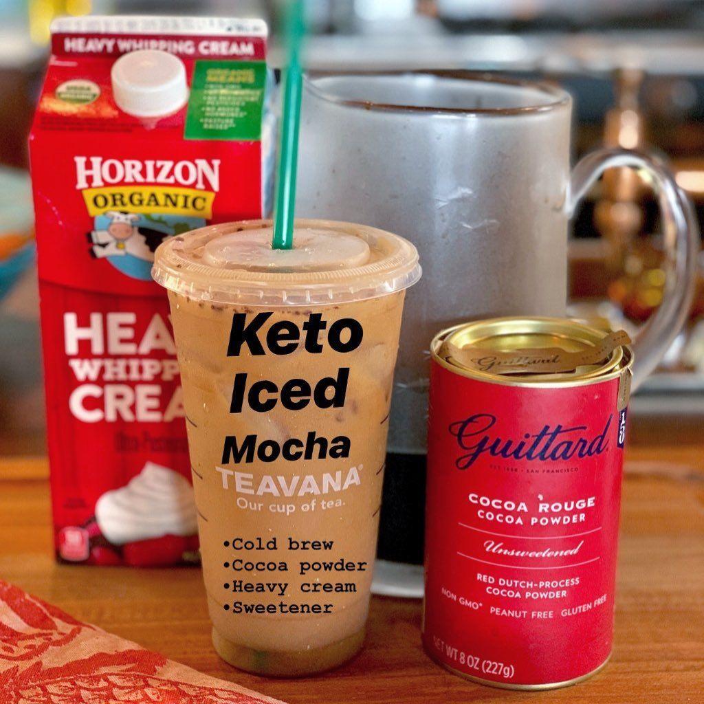 Keto Iced Mocha 🍫👌 . Do You Like To Add Cream To Your