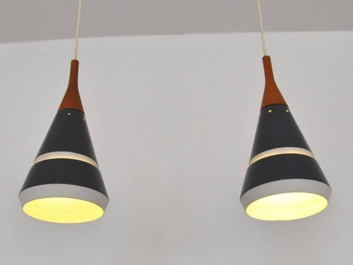 Set of two goodlooking pendant lights by philips netherlands