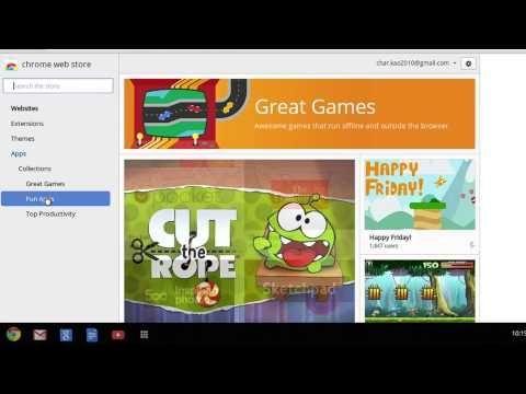 Chromebook How to add an app via Google Chrome