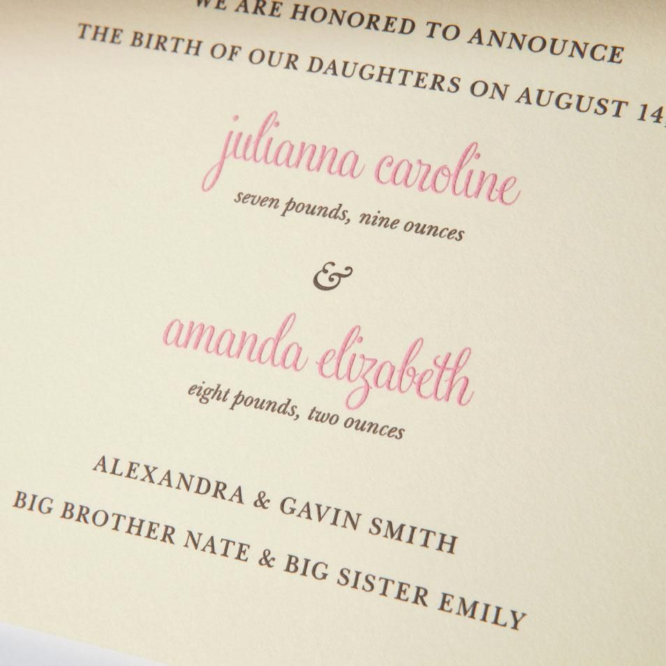 17 Best images about Birth Announcements – Baby Birth Announcement Message
