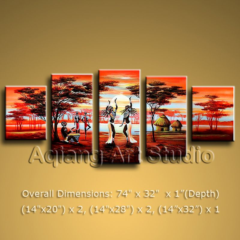 Large Modern Contemporary Oil Painting Canvas Wall Art Africa ...
