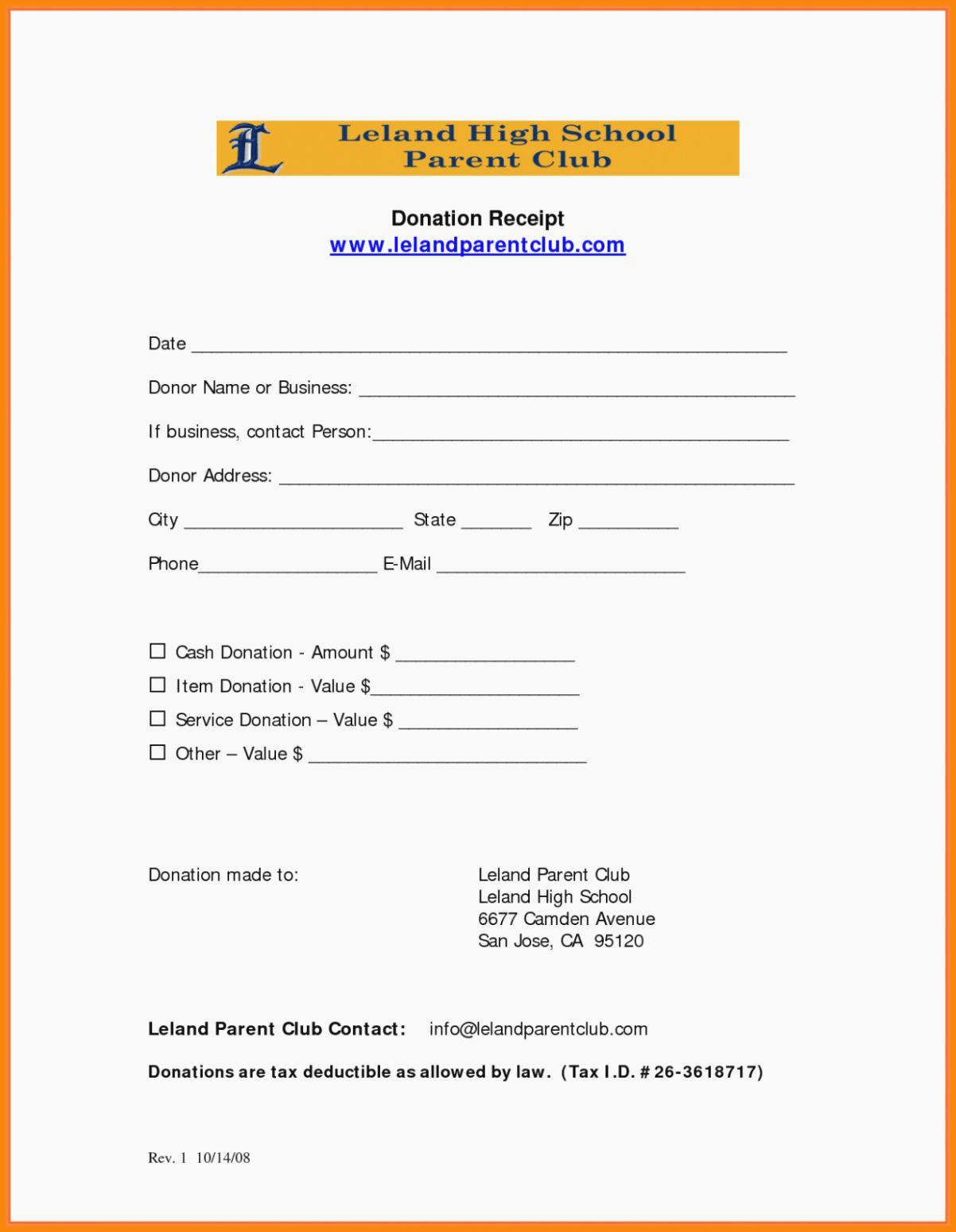 50 501c3 Donation Receipt Template In 2020 Receipt Template