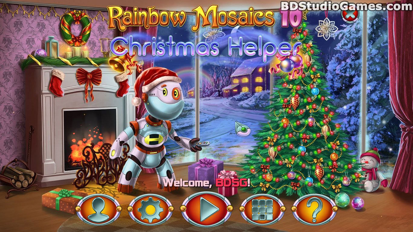 Rainbow Mosaics 10: Christmas Helper Free Download