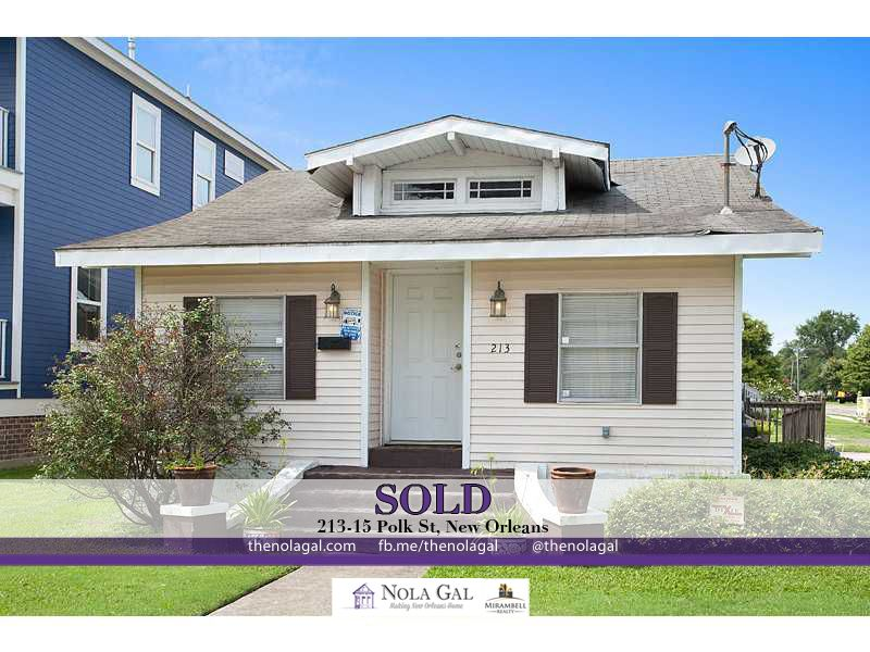 SOLD! $175,000 3bed/2bath Muli-Family Home 213-15 Polk St, New Orleans, LA - Greater New Orleans Real Estate http://www.thenolagal.com