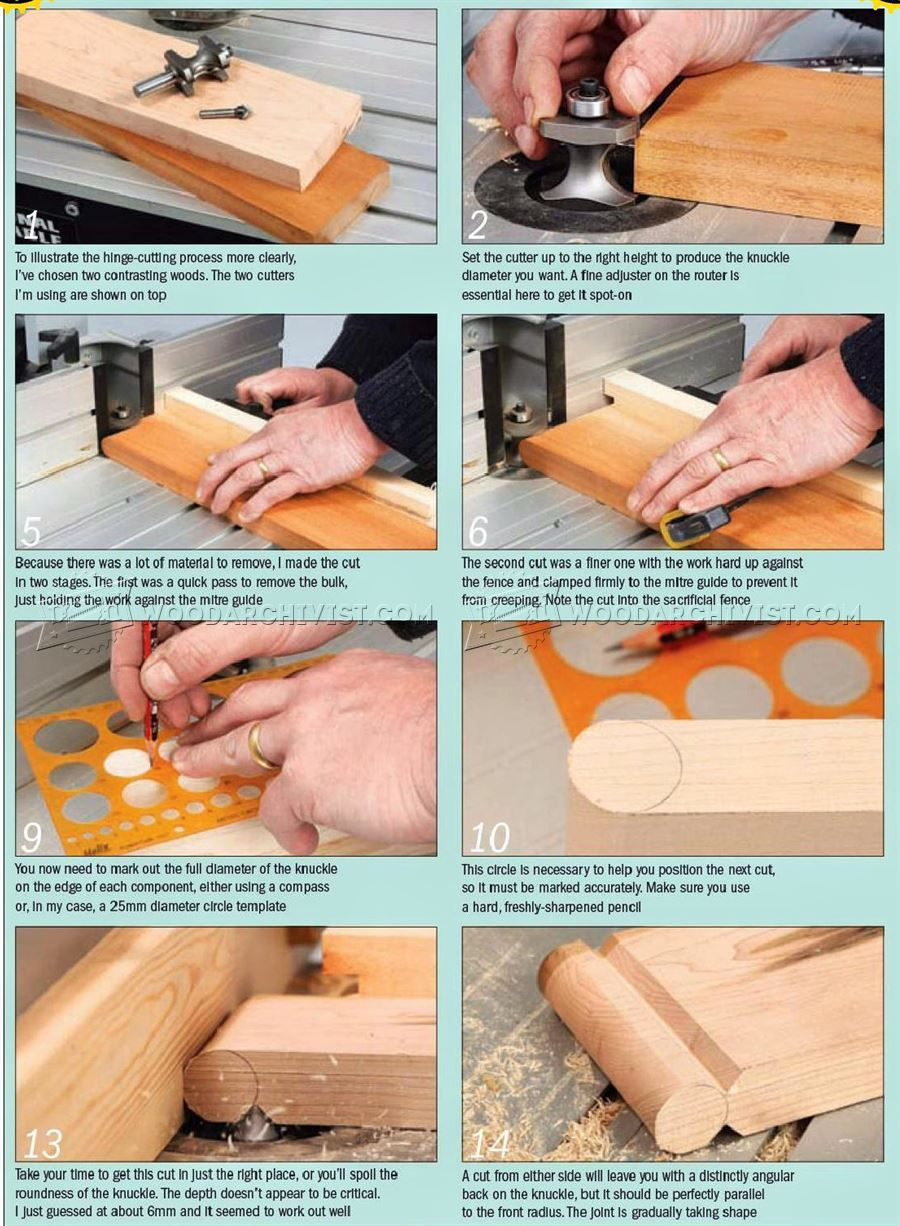 1259 Cutting Wood Hinge Joint Joinery Tips Jigs And Techniques