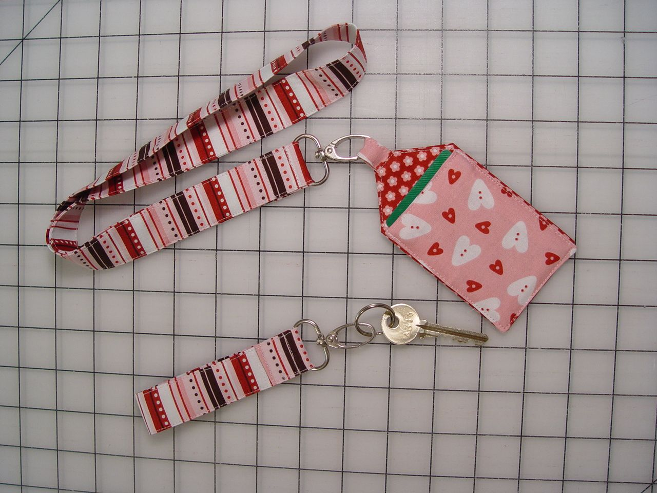 Neck Lanyard With Card Holder And Key Fob Diy Lanyard Fabric