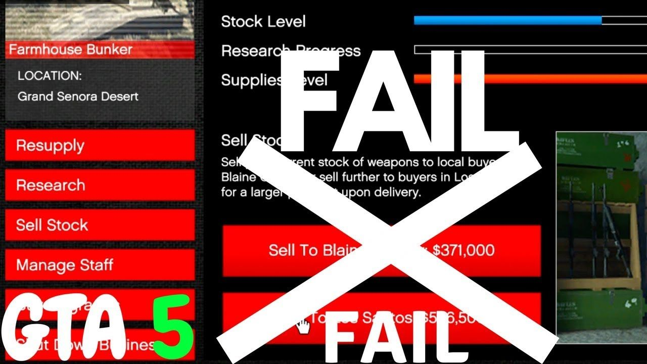 GTA 5 MAKING MONEY BUNKER SELLING STOCK WHAT HAPPENS IF YOU