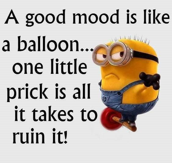 A good mood is like a balloon