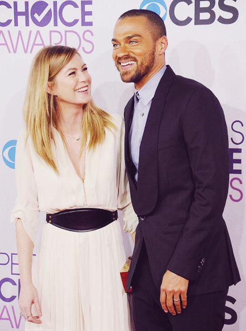 Ellen pompeo and Jesse Williams   Celebrities   Pinterest ...