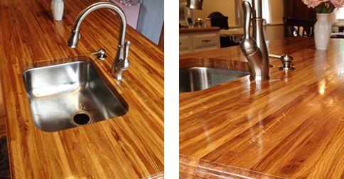 A Beautiful Oak Countertop Finished With Waterlox Original Sealer
