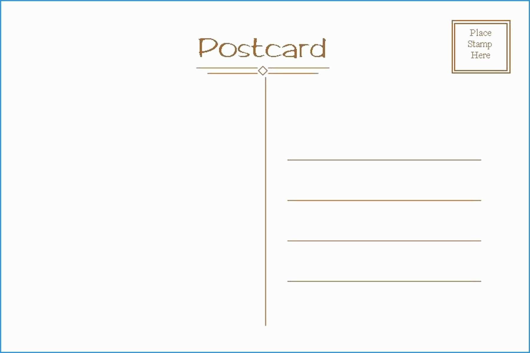 Free Postcard Template Elegant Postcard Template Free