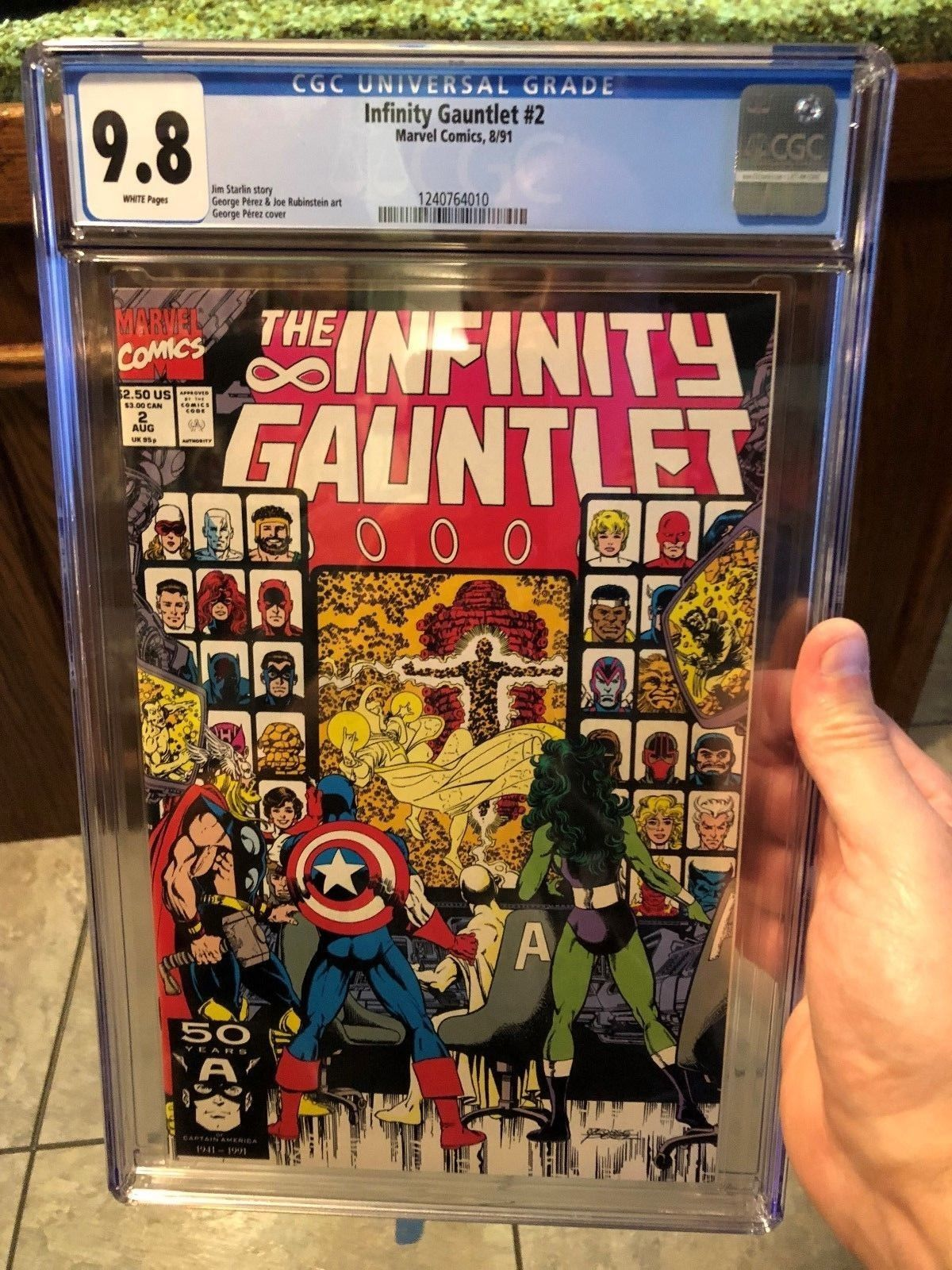 cgc 9 8 infinity gauntlet 2 white pages comic books original