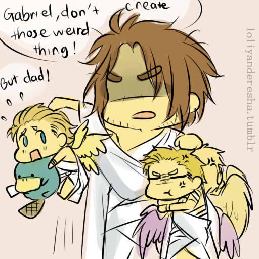 Baby Castiel And Gabriel - Google Search