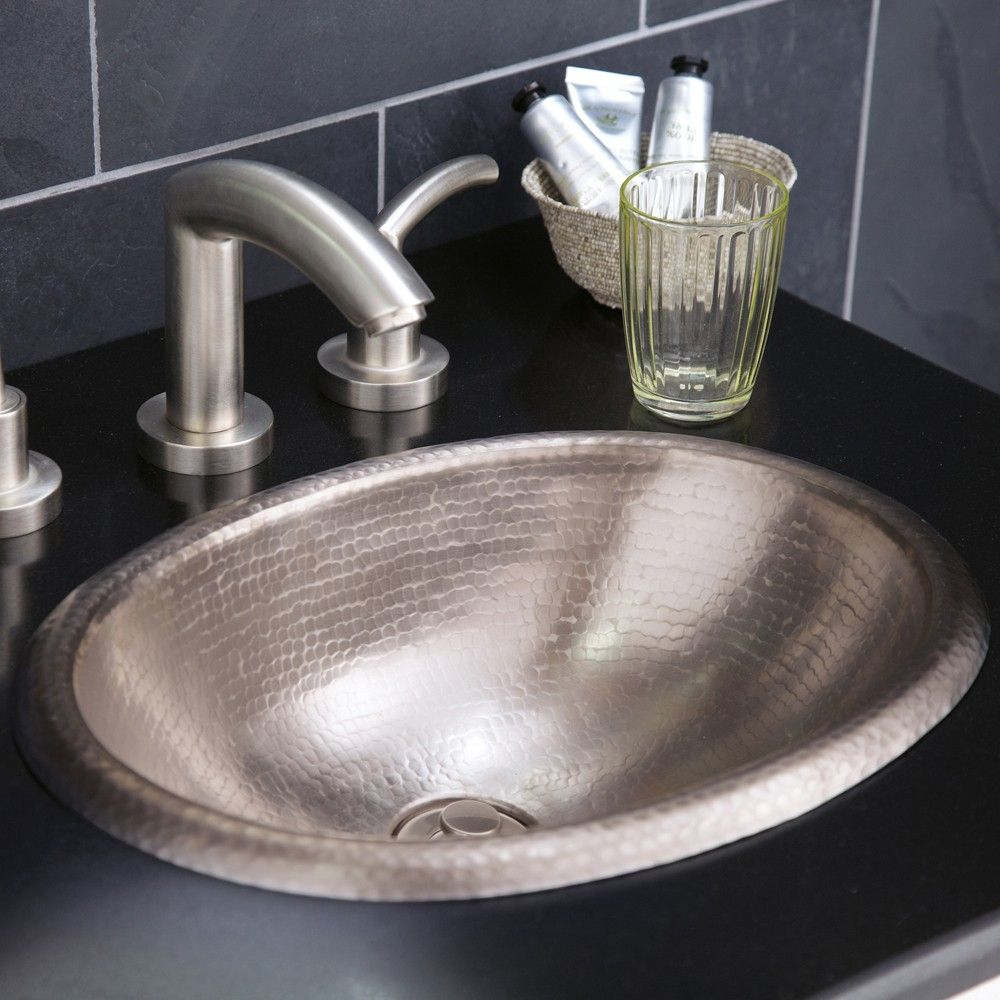 Rolled Baby Clic 15 1 2 Drop In Oval Brushed Nickel Bathroom Sink Native Trails