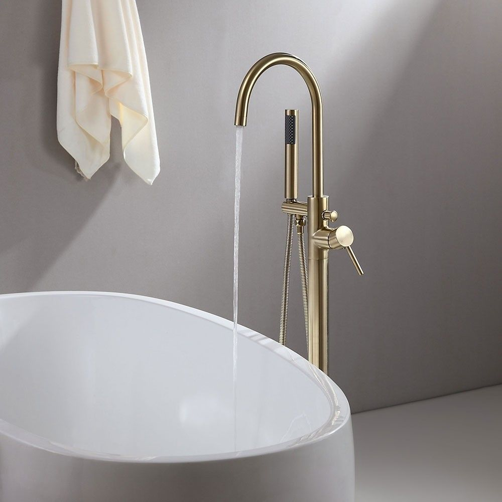 Brewst Contemporary Freestanding Single Handle Tub Filler Faucet