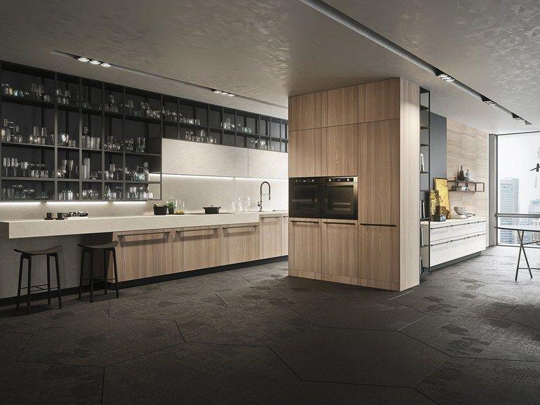 Zeilen- Einbauküche mit Griffe OPERA | Zeilen- Küche - Snaidero ...