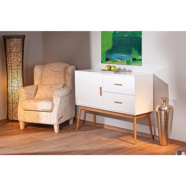 Buffet Commode Design Blanc Bambou Miliboo Envies Deco