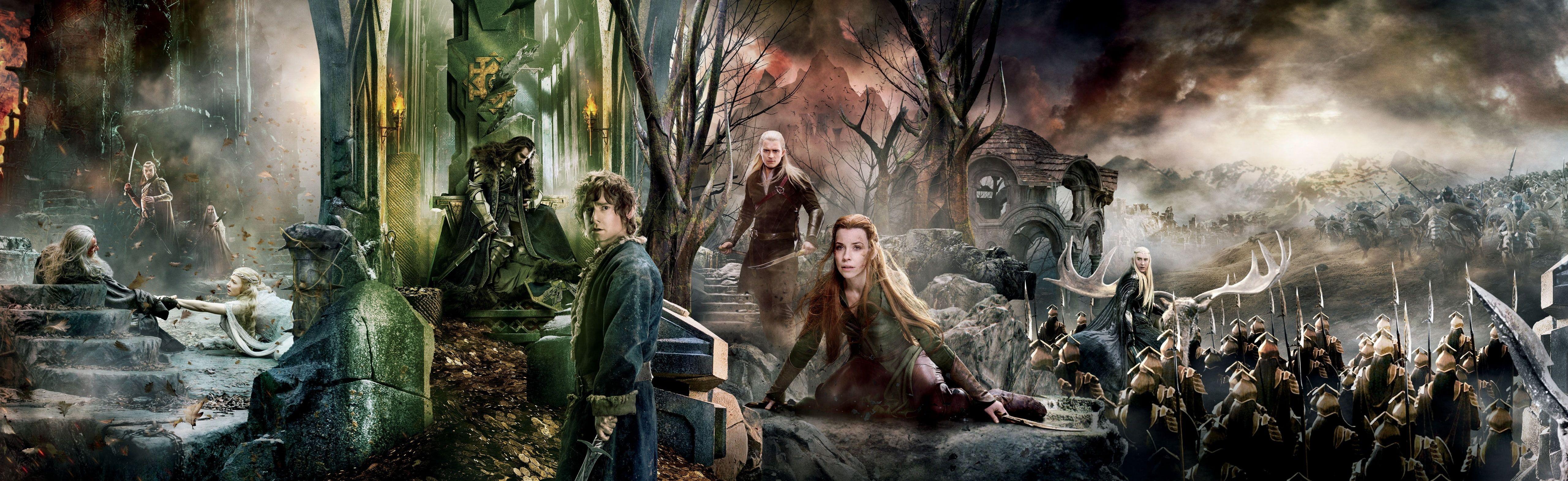 The Hobbit The Battle Of The Five Armies Dual The Hobbit Wallpaper Movies The Hobbit Gandalf Bilbo Baggins Bard The Bow The Hobbit Hd Wallpaper Wallpaper