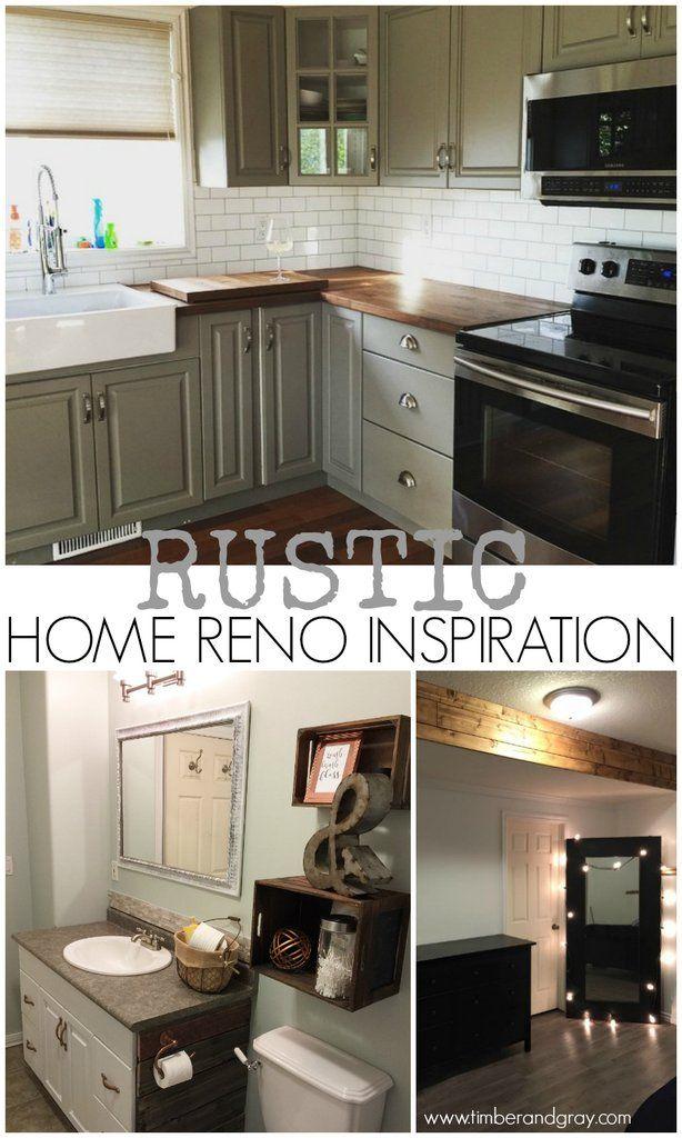 Rustic Home Reno Inspiration | Pinterest