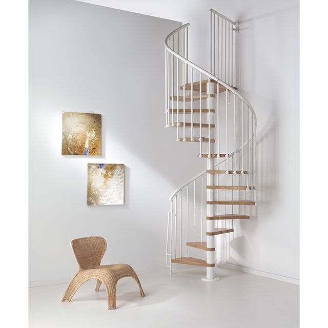 escalier h lico dal magia 70 blanc ch ne castorama spiral staircases. Black Bedroom Furniture Sets. Home Design Ideas