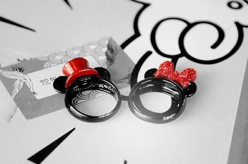 Mickey Minnie Mouse Engagement Rings