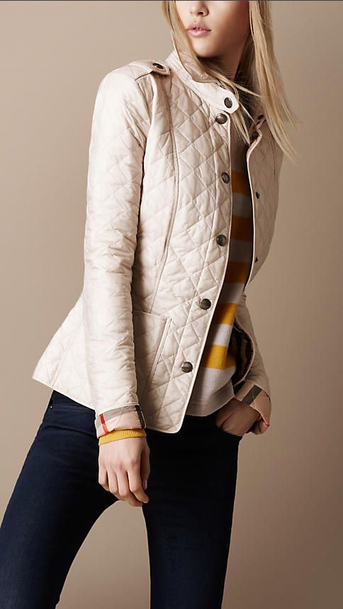 Diamond Quilted Jacket Quilted Jacket Outfit Cream Jacket Outfit Womens Fashion Jackets