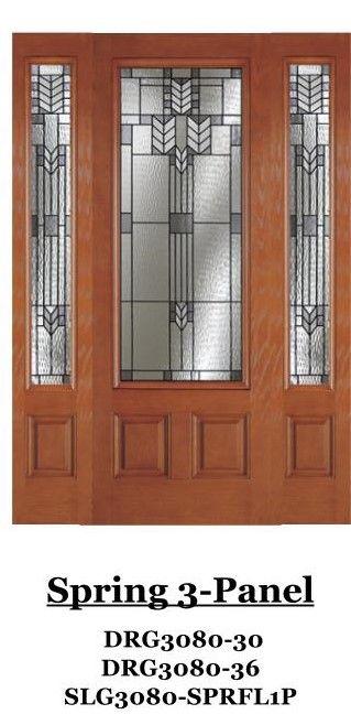 PLAN 3 AND 5 ONLY OPTIONAL SPRING 3 PANEL FRONT DOOR   Plastpro