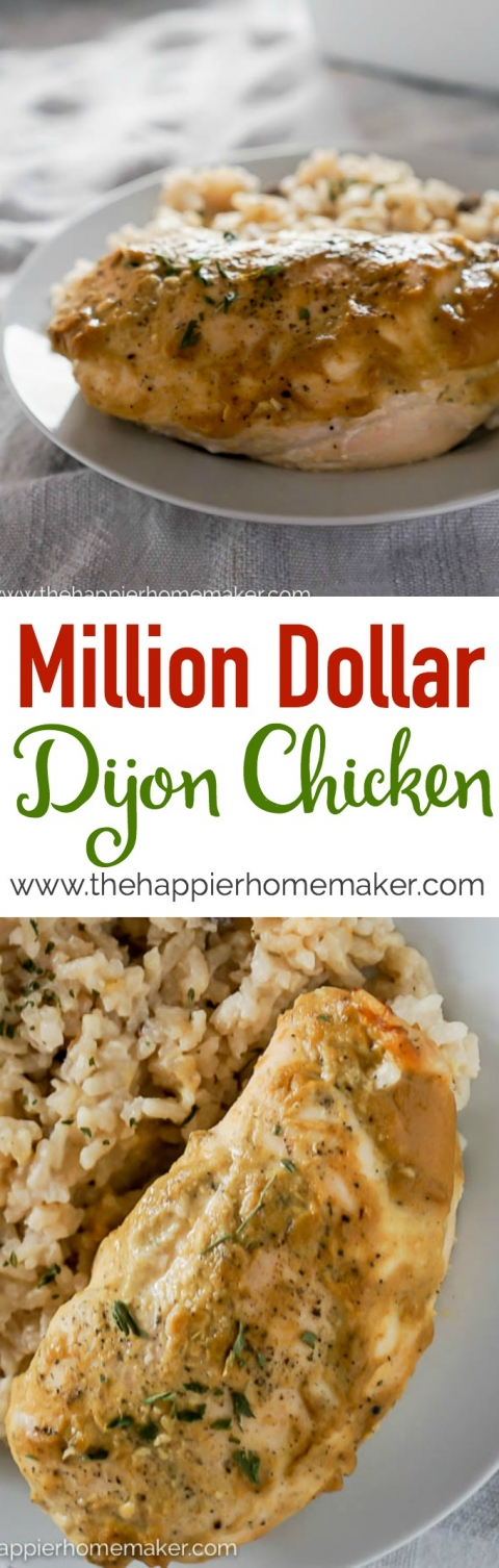 My friend called this her million dollar chicken and she was not exaggerating! This dijon chicken is packed full of flavor and only 5 ingredients!