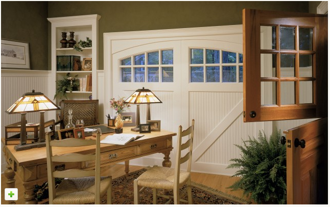 Converted Garage Using Stable Doors Looks So Nice Garage To Living Space Garage Remodel Traditional Home Office