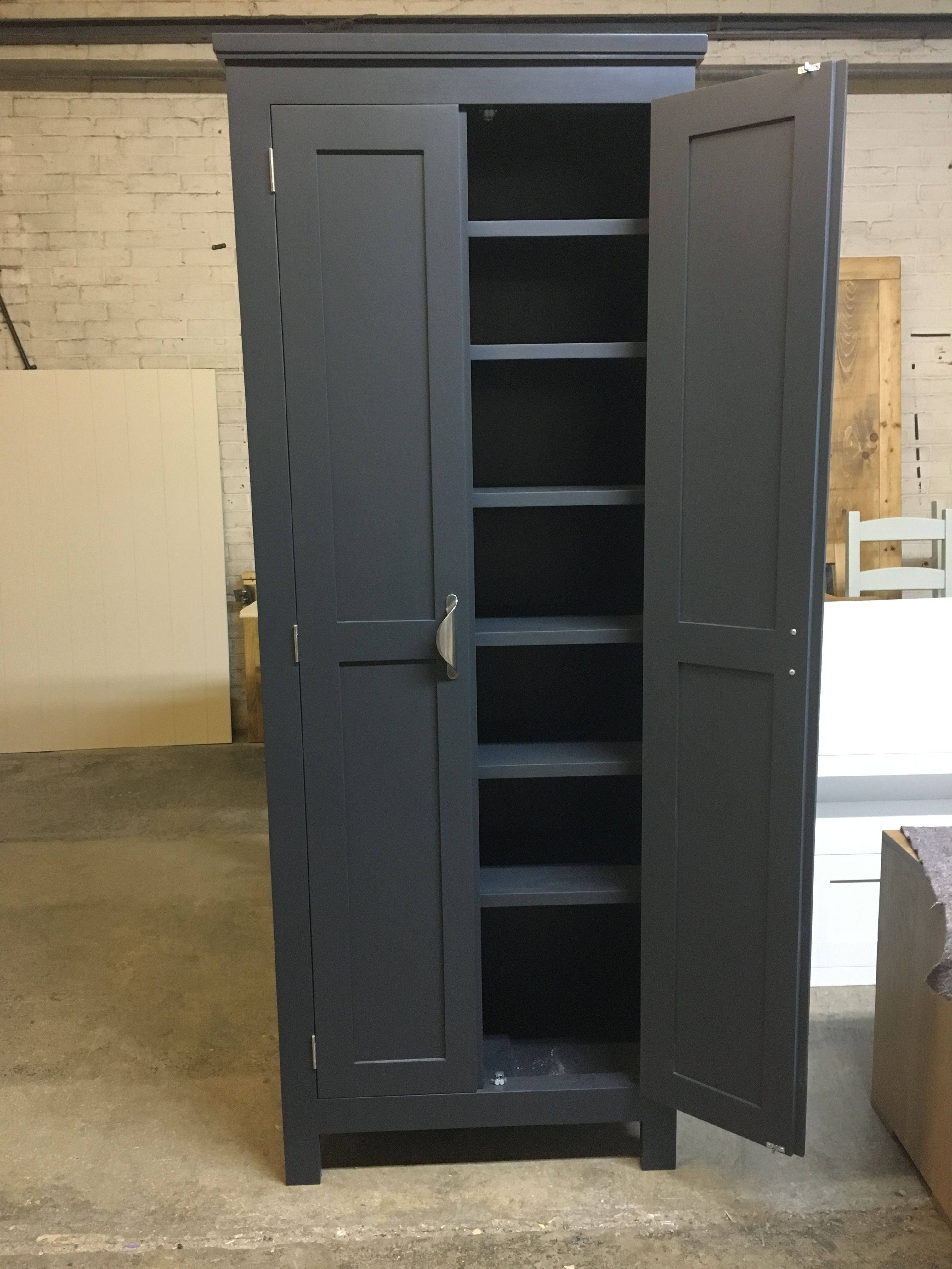 Lots Of Shelves In This Housekeepers Cupboard Www Cobwebsfurniture Co Uk Tall Cabinet Storage Cupboard Storage Cabinet