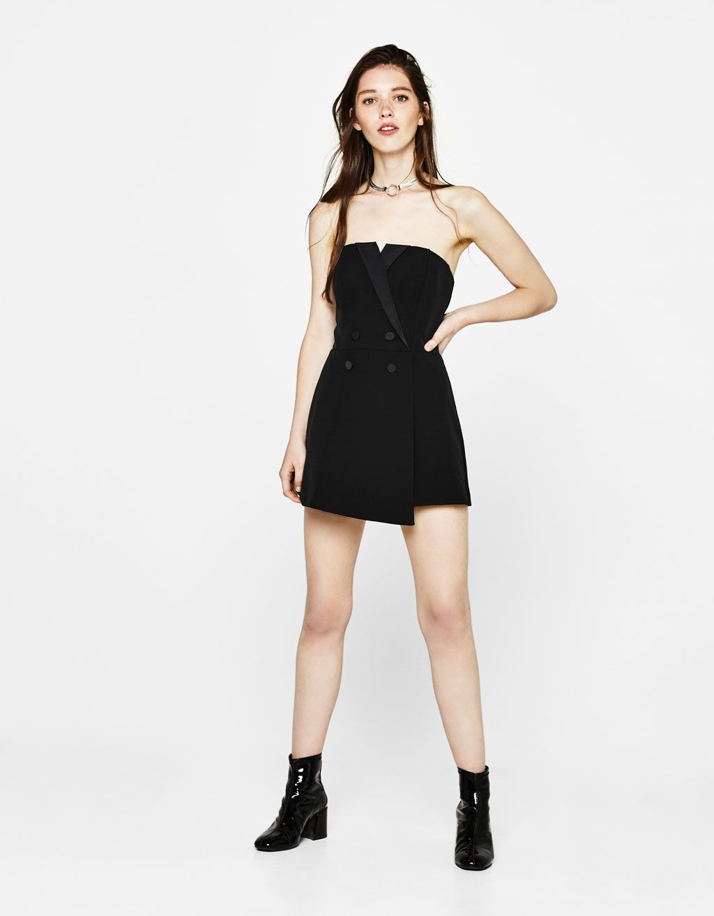 41a5606f12 Tuxedo-style jumpsuit - Jumpsuits   Rompers - Bershka United States