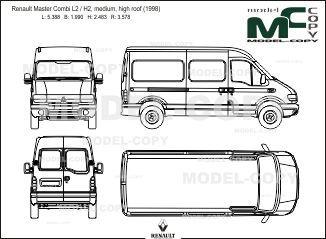 Renault Master Combi L2 / H2, medium, high roof (1998